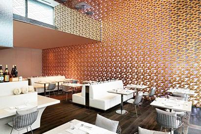 枡を使った内装材 MASPACIO 施工事例 アゼルバイジャン 某日本食レストラン2