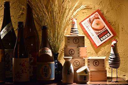 枡を使った内装材 MASPACIO 施工事例 酒、銀シャリ、おだし やちよ 札幌狸小路3丁目店2